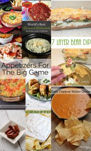 Appetizers for Football Parties {MMM #417 Block Party}