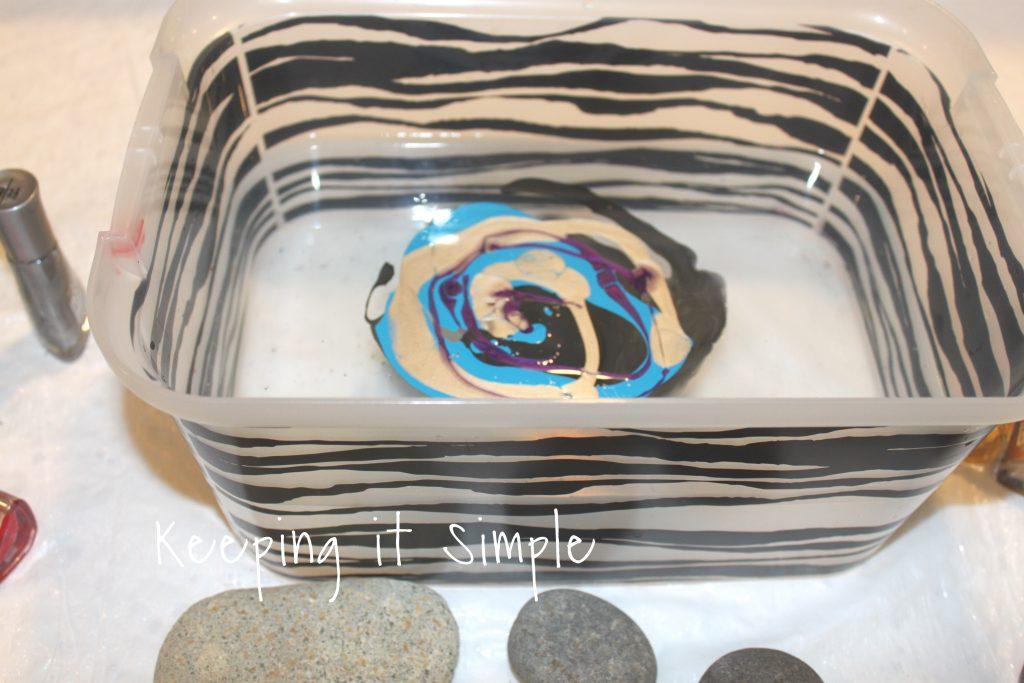 Painted Rocks -Nail Polish Dipped Rocks • Keeping it Simple