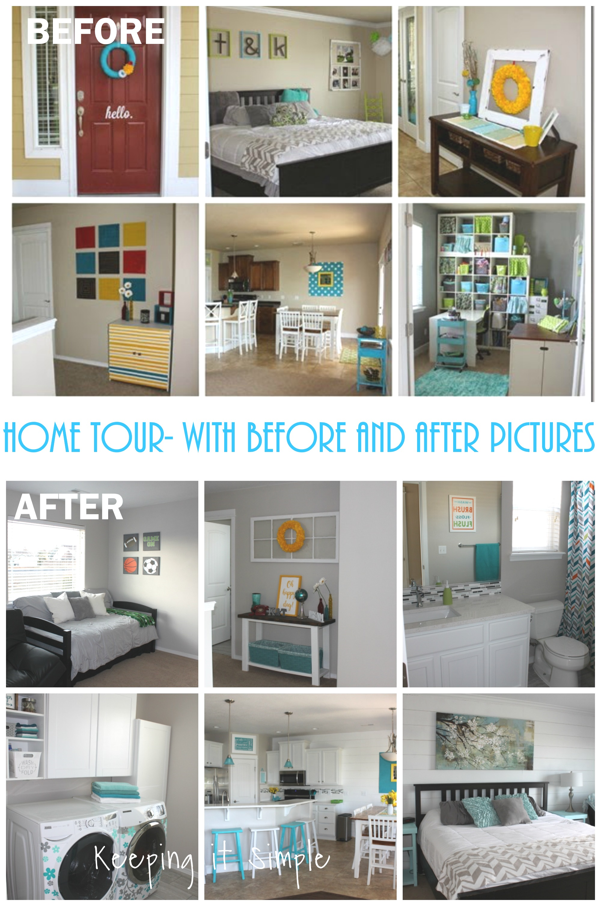 Home Tour Before And After O Keeping It Simple