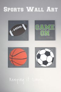 Sports Wall Art with SVG Cut File