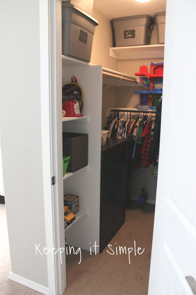 Even Though The Shelves Were Put Into The Design Because Of The Door Issue,  They Are My Favorite Thing About The Closet! Itu0027s Nice To Have Shelves To  Put ...