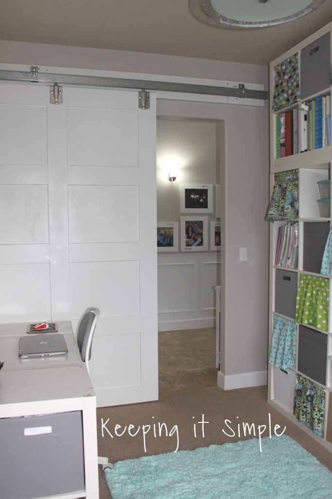 And Here It Is Shut From The Inside. I Just Love My New Modern Barn Door!