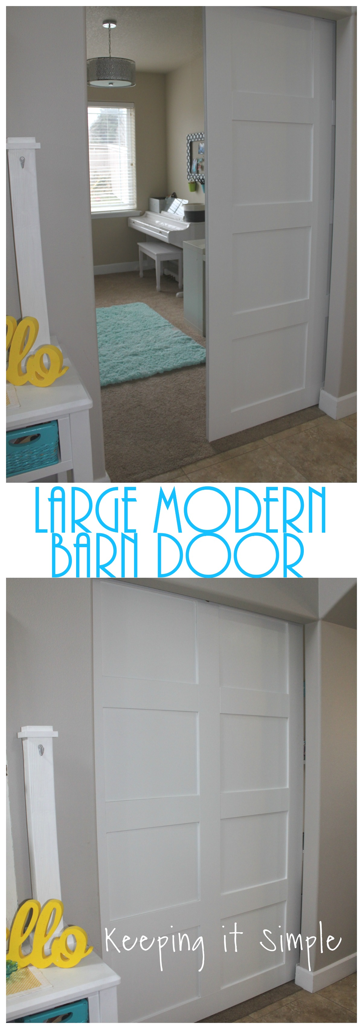 How To Build A Large Modern Barn Door Keeping It Simple
