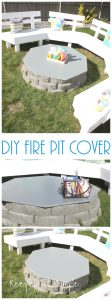 Backyard Ideas- DIY Fire Pit Cover