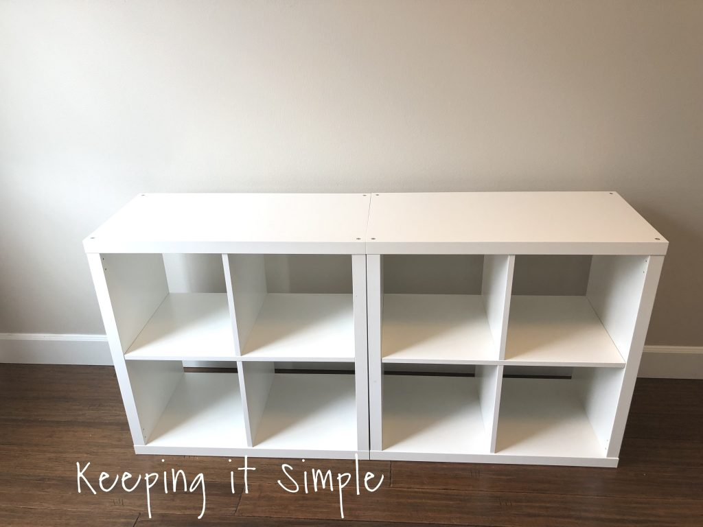 ikea hack diy computer desk with kallax shelves keeping it simple. Black Bedroom Furniture Sets. Home Design Ideas
