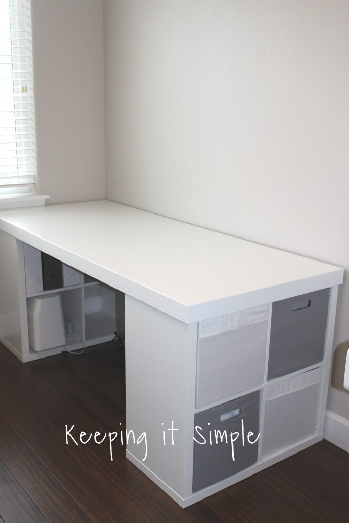 Ikea Hack- DIY Computer Desk with Kallax Shelves • Keeping