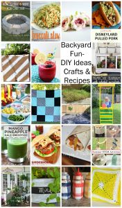 Backyard Fun- DIY, Crafts and Recipes {MMM #434 Block Party}