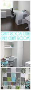 Craft Room Ideas, Organization and Storage {Ikea Craft Room}