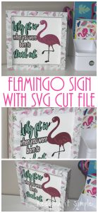 Flamingo Sign with Free SVG Cut File {Summer Breeze Vinyl Pack}