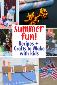Summer Fun- Recipes and Crafts to make with Kids {MMM #436 Block Party}