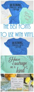 The Best Fonts to Use with Vinyl and Printables