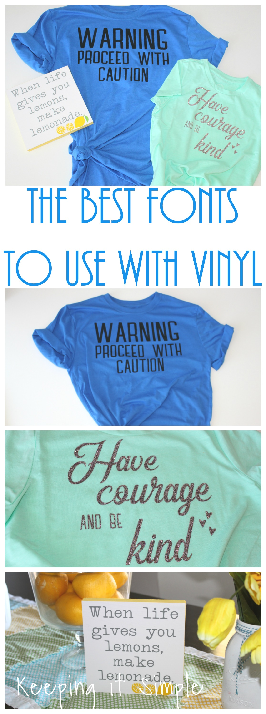 The Best Fonts to Use with Vinyl and Printables • Keeping it Simple