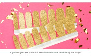 Color Street Anniversary- Color Street Gold Mine Nail Set