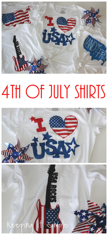 diy 4th of july shirt design ideas keeping it simple. Black Bedroom Furniture Sets. Home Design Ideas