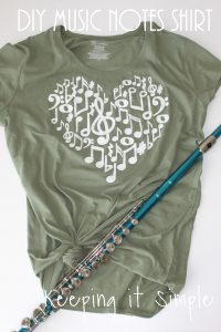 Easy DIY Music Notes Shirt with SVG File