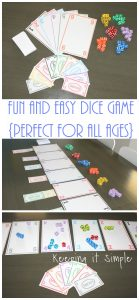 Fun and Easy Dice Game with Printable