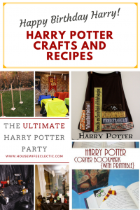 Harry Potter Themed Crafts {MMM #443 Block Party}