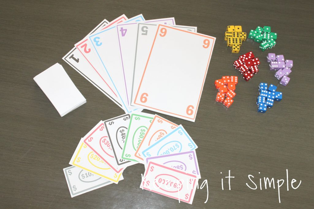 picture relating to Printable Tenzi Cards known as Enjoyable and Basic Cube Video game