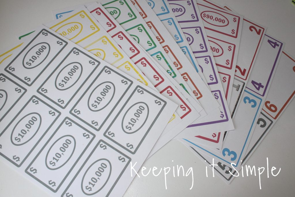 picture regarding Printable Tenzi Cards called Exciting and Simple Cube Activity with Printable Holding it Uncomplicated