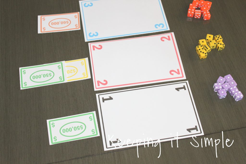 photo about Printable Tenzi Cards called Entertaining and Simple Cube Match with Printable Trying to keep it Basic