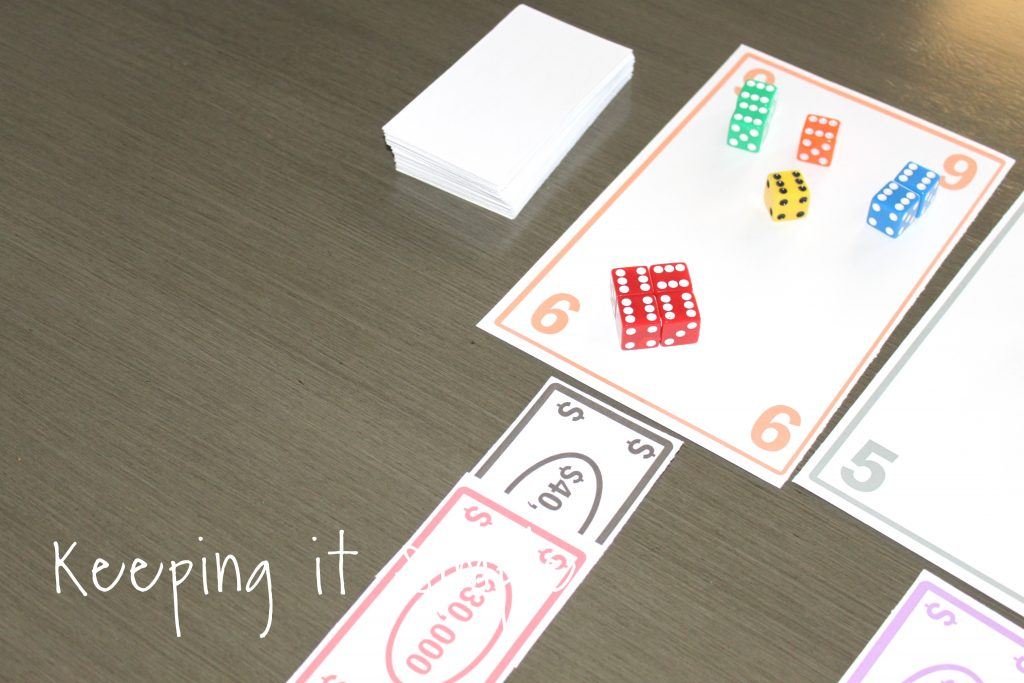 graphic about Printable Tenzi Cards identified as Exciting and Basic Cube Recreation with Printable Holding it Straightforward