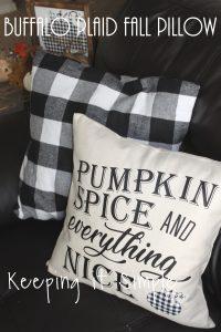 Buffalo Plaid Fall Pillow {Pumpkin Spice and Everything Nice}