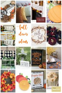 Easy Fall Decorations {MMM #446 Block Party}