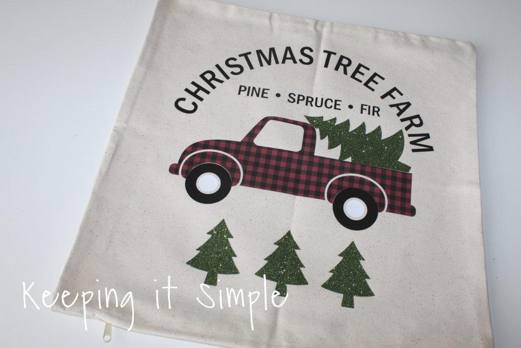 Red Buffalo Plaid Christmas Tree Farm Pillow • Keeping it Simple
