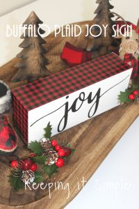 Red Buffalo Plaid Christmas Joy Block