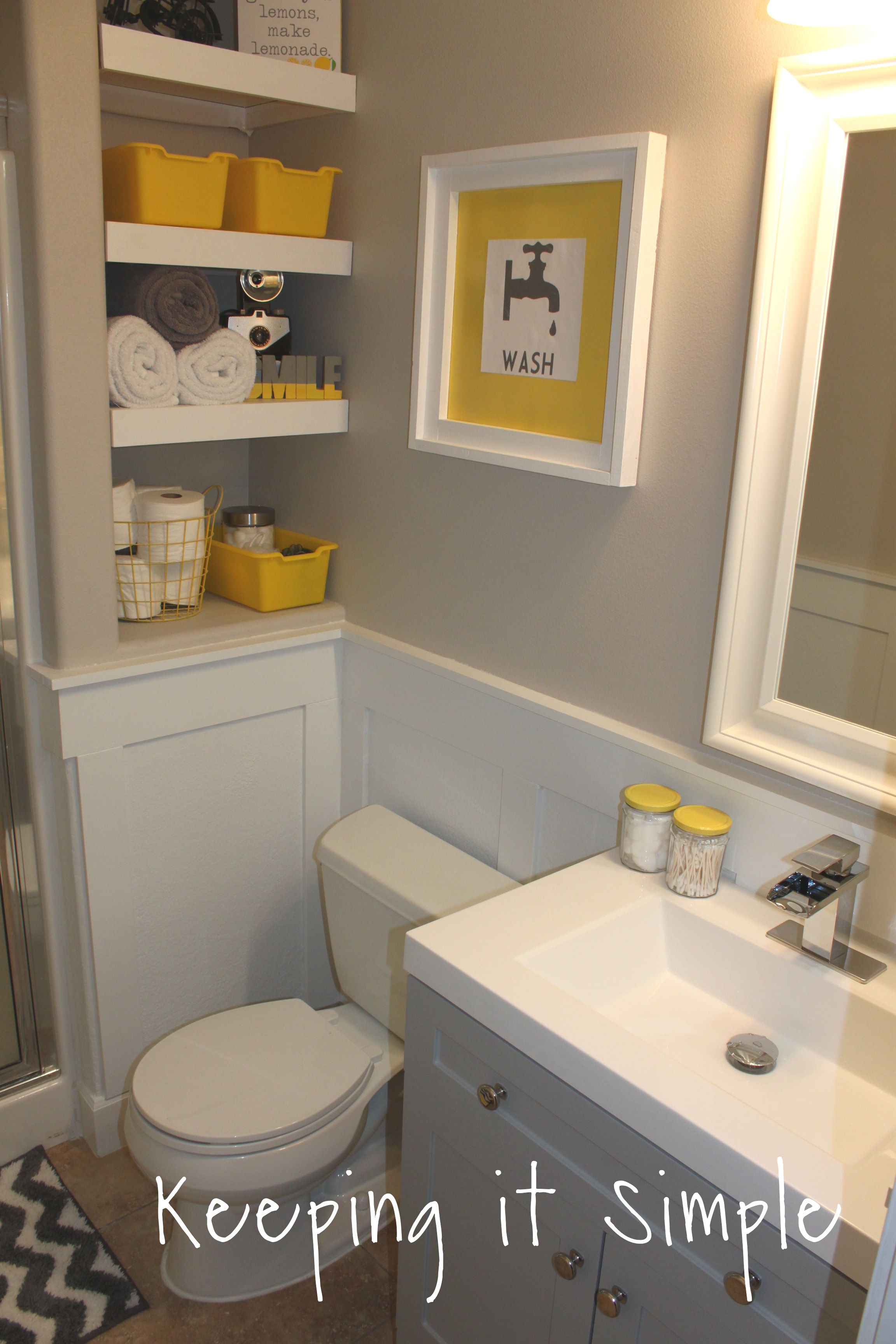 small-bathroom-makeover-ideas-yellow-and-gray (244)24 • Keeping it