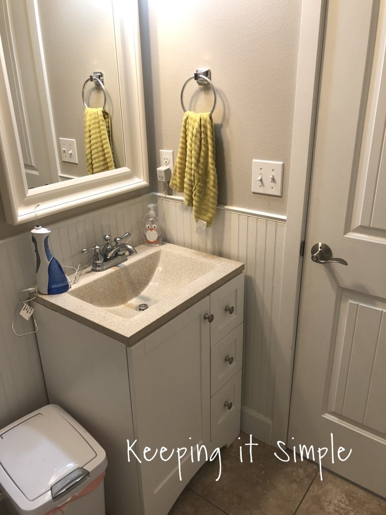Small bathroom remodel ideas bathroom shelves with board and batten keeping it simple - Pictures of small bathrooms ...