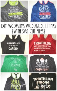 DIY Women's Workout Tanks with SVG Cut Files