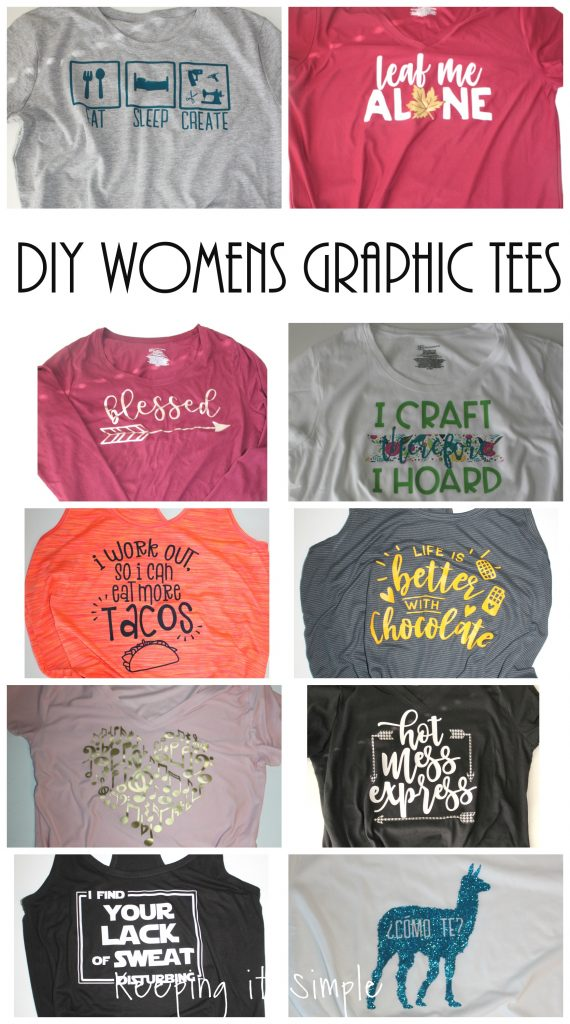 5c3b4428 DIY Funny Womens Graphic Shirt Ideas with SVG Cut Files • Keeping it ...