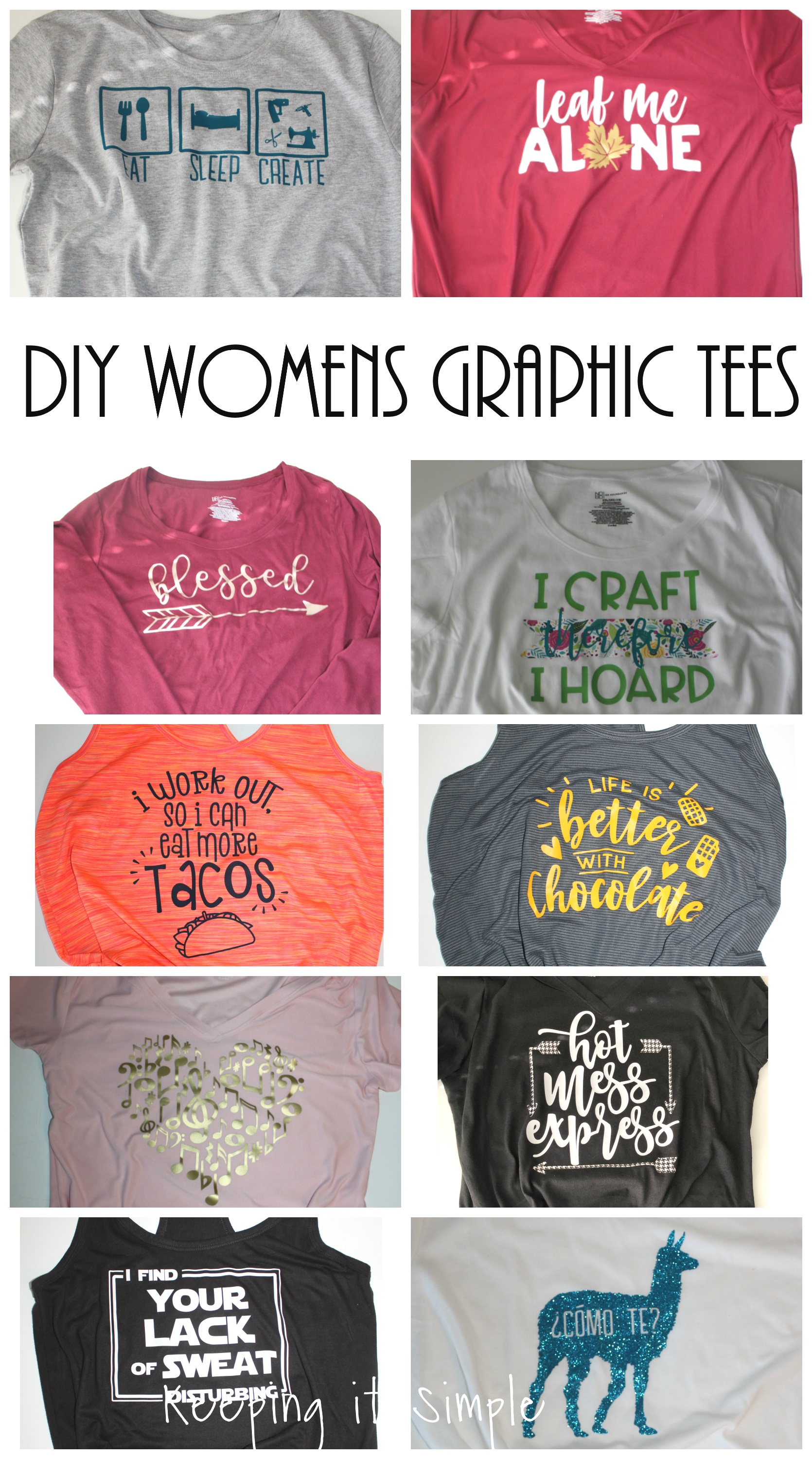 DIY Funny Womens Graphic Shirt Ideas with SVG Cut Files ...