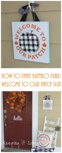 How to Paint Buffalo Plaid- Pumpkin Patch Sign