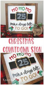 Christmas Countdown Sign- How to Put Heat Transfer Vinyl on Wood