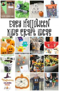 Easy Halloween Kid Craft Ideas {MMM #454 Block Party}