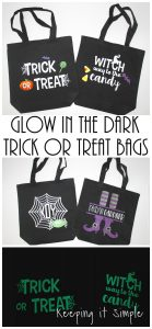 Glow in the Dark Halloween Trick or Treat Bags