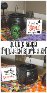 Double Sided Halloween Block Sign