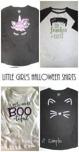 Little Girls Halloween Shirt Ideas with SVG Cut Files