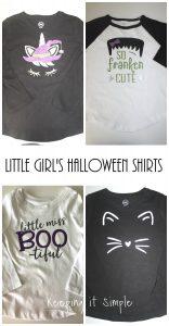 Little Girls Halloween Shirt Ideas with SVG Cut Files