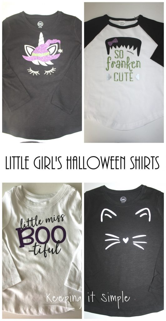 1cbac8b6 I wanted to share with you some fun little girl's Halloween shirts and of  course the cut files too :).