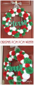 DIY Christmas Pom Pom Wreath- How to make Pom Poms