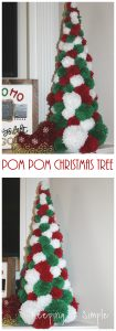 Pom Pom Christmas Tree- How to Make Mini Pom Poms with a Fork