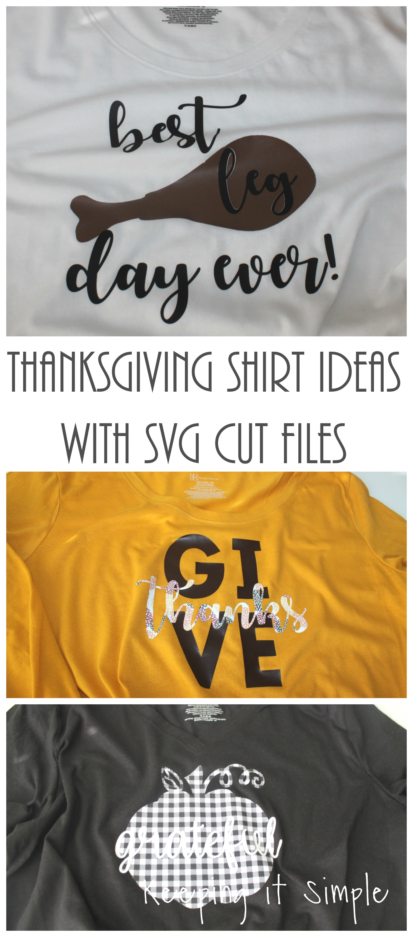 thanksgiving shirt ideas with svg cut files keeping it simple