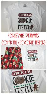 Christmas Pajamas- Official Cookie Tester