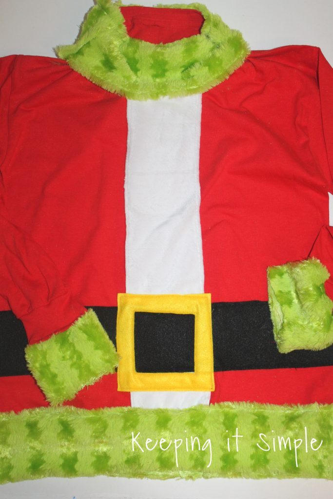Christmas Ugly Sweater For Boys Grinch Santa Shirt Keeping It Simple