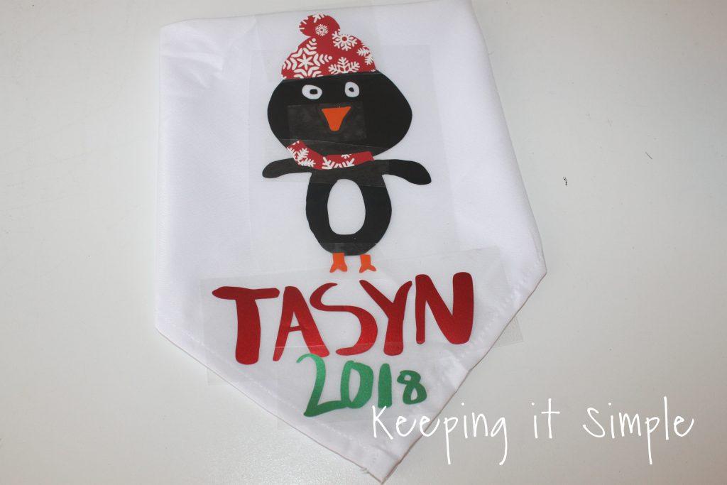 Diy Christmas Napkins Using Kids Drawings Keeping It Simple