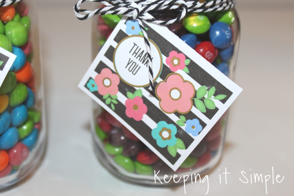 Activity Days Birthday Gift Idea Candy Jars With Floral Tag Keeping It Simple