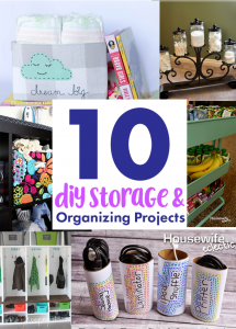 DIY Storage and Organizing Ideas {MMM #463 Block Party}